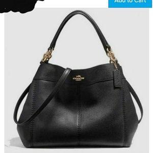 Coach Small Lexy Handbag- Black F28992